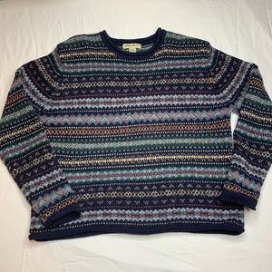 SOLD Eddie Bauer Womens 100% Wool Sweater large